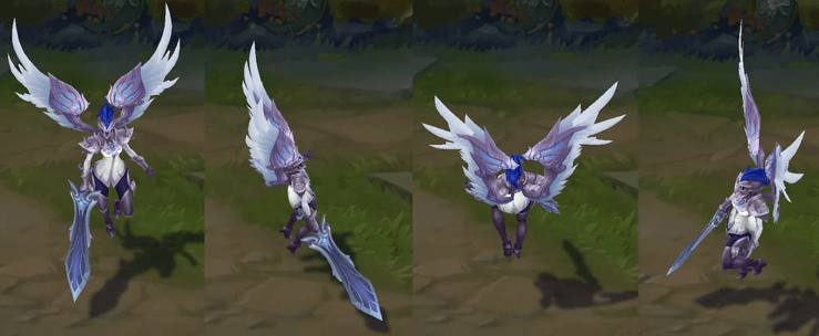 lol silver kayle model in game image