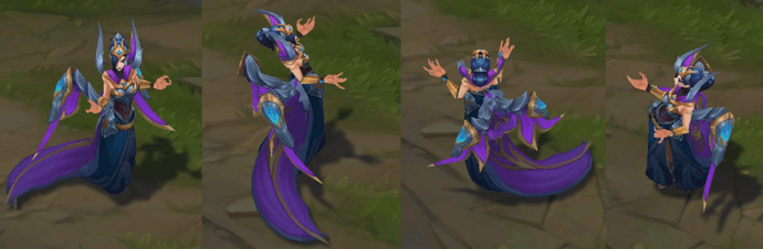 victorious morgana skin model in game image